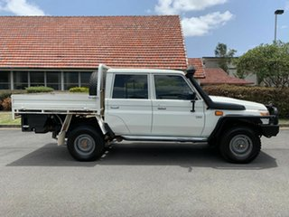 2014 Toyota Landcruiser VDJ79R Workmate White 5 Speed Manual Dual Cab.