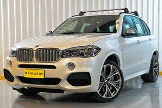 2016 BMW X5 F15 M50D White 8 Speed Sports Automatic Wagon.