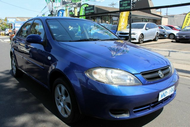 Used Holden Viva JF MY08 West Footscray, 2008 Holden Viva JF MY08 Blue 4 Speed Automatic Hatchback