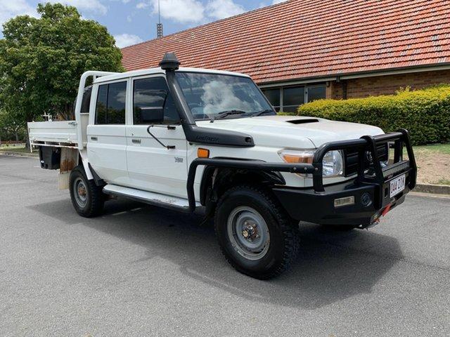 Used Toyota Landcruiser VDJ79R Workmate, 2014 Toyota Landcruiser VDJ79R Workmate White 5 Speed Manual Dual Cab