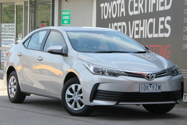Used Toyota Corolla ZRE172R Ascent S-CVT, 2019 Toyota Corolla ZRE172R Ascent S-CVT Silver Ash 7 Speed Constant Variable Sedan