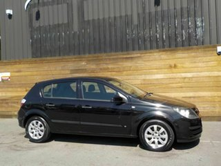 2005 Holden Astra AH MY05 CD Black 4 Speed Automatic Hatchback.
