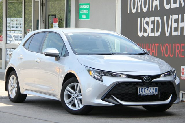 Used Toyota Corolla Mzea12R Ascent Sport, 2019 Toyota Corolla Mzea12R Ascent Sport Silver Pearl 10 Speed Constant Variable Hatchback