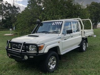 2014 Toyota Landcruiser VDJ79R MY12 Update GXL (4x4) French Vanilla 5 Speed Manual