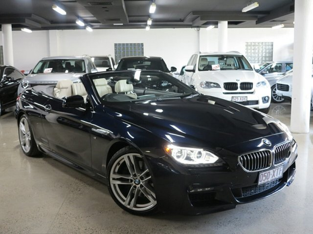 Used BMW 6 Series F12 LCI 640i Steptronic, 2015 BMW 6 Series F12 LCI 640i Steptronic Carbon Black 8 Speed Sports Automatic Convertible