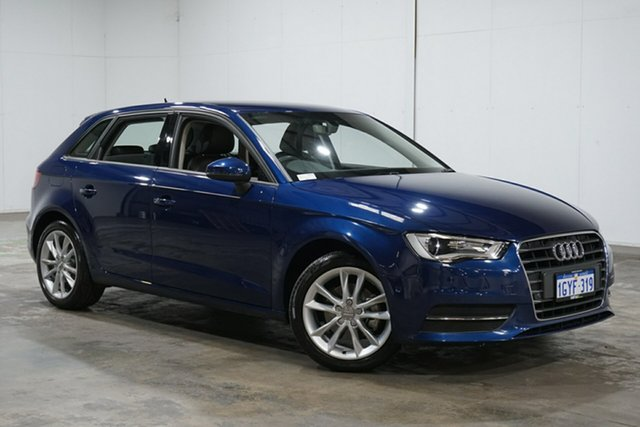 Used Audi A3 8V MY16 Attraction Sportback S Tronic, 2016 Audi A3 8V MY16 Attraction Sportback S Tronic Blue 7 Speed Sports Automatic Dual Clutch