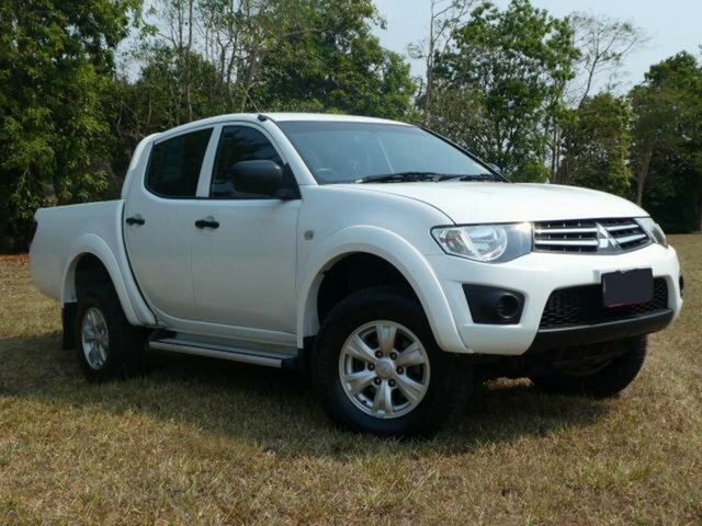 Used Mitsubishi Triton MN MY12 GLX (4x4), 2013 Mitsubishi Triton MN MY12 GLX (4x4) White 5 Speed Manual 4x4 Double Cab Utility