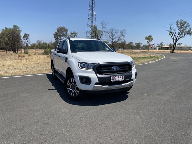 Used Ford Ranger PX MkIII 2019.75MY Wildtrak Pick-up Double Cab, 2019 Ford Ranger PX MkIII 2019.75MY Wildtrak Pick-up Double Cab Arctic White 10 Speed
