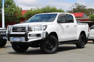 2015 Toyota Hilux GUN136R SR Double Cab 4x2 Hi-Rider White 6 Speed Manual Utility.