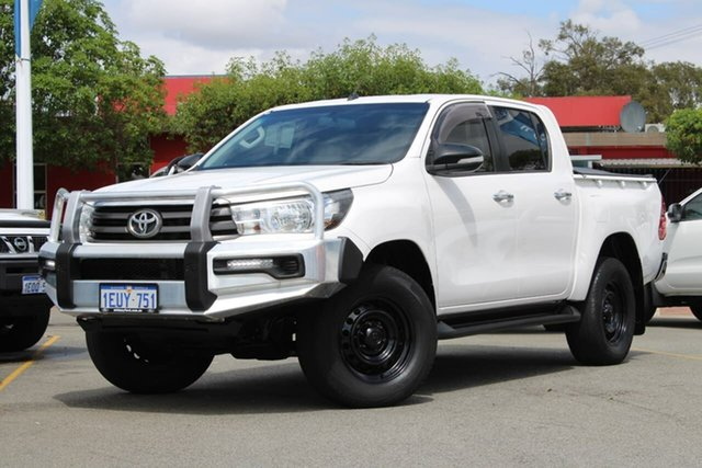 Used Toyota Hilux GUN136R SR Double Cab 4x2 Hi-Rider, 2015 Toyota Hilux GUN136R SR Double Cab 4x2 Hi-Rider White 6 Speed Manual Utility