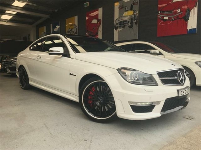 Used Mercedes-Benz C-Class C204 , 2012 Mercedes-Benz C-Class C204 C63 AMG Performance Package White Sports Automatic Coupe