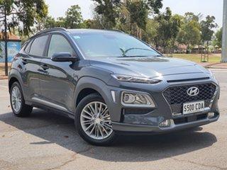 2019 Hyundai Kona OS.3 MY20 Elite D-CT AWD Dark Knight 7 Speed Sports Automatic Dual Clutch Wagon.