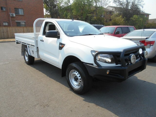 Used Ford Ranger PX XL 2.2 Hi-Rider (4x2), 2015 Ford Ranger PX XL 2.2 Hi-Rider (4x2) White 6 Speed Automatic Cab Chassis
