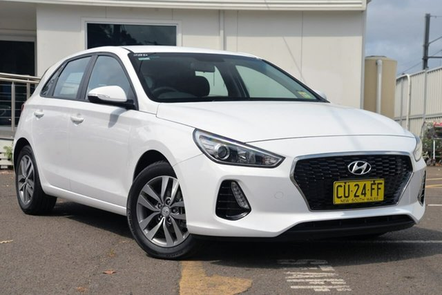 Used Hyundai i30 PD2 MY19 Active D-CT, 2019 Hyundai i30 PD2 MY19 Active D-CT White 7 Speed Sports Automatic Dual Clutch Hatchback