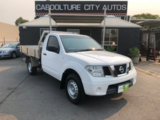 2012 Nissan Navara D40 MY12 RX (4x4) White 6 Speed Manual Cab Chassis.