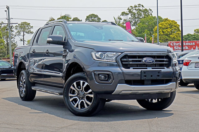 Used Ford Ranger PX MkIII 2019.00MY Wildtrak Pick-up Double Cab, 2019 Ford Ranger PX MkIII 2019.00MY Wildtrak Pick-up Double Cab Grey 10 Speed Sports Automatic