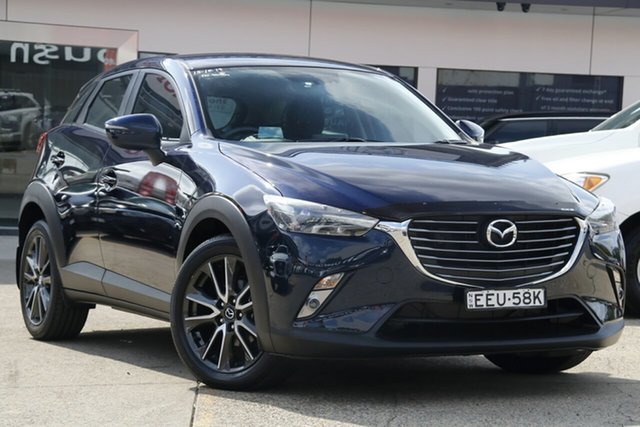 Used Mazda CX-3 DK MY17.5 S Touring (FWD), 2017 Mazda CX-3 DK MY17.5 S Touring (FWD) Blue 6 Speed Automatic Wagon