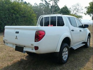 2013 Mitsubishi Triton MN MY12 GLX (4x4) White 5 Speed Manual 4x4 Double Cab Utility