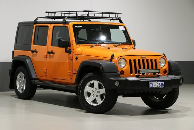 Used Jeep Wrangler Unlimited JK MY12 Sport (4x4), 2012 Jeep Wrangler Unlimited JK MY12 Sport (4x4) Orange 6 Speed Manual Softtop