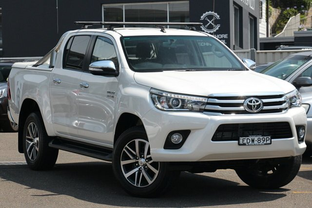 Used Toyota Hilux GUN126R SR5 Double Cab, 2016 Toyota Hilux GUN126R SR5 Double Cab Pearl White 6 Speed Sports Automatic Utility