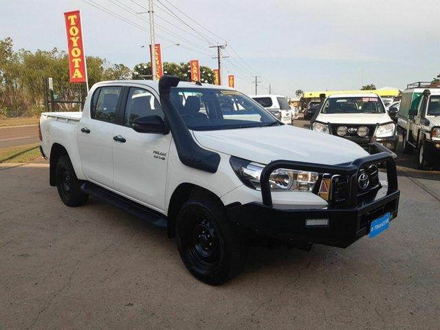 Used Toyota Hilux GUN126R SR Double Cab, 2019 Toyota Hilux GUN126R SR Double Cab White 6 Speed Sports Automatic Utility