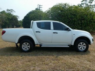 2013 Mitsubishi Triton MN MY12 GLX (4x4) White 5 Speed Manual 4x4 Double Cab Utility.