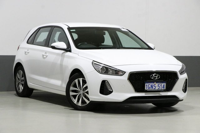 Used Hyundai i30 PD Active, 2018 Hyundai i30 PD Active White 6 Speed Auto Sequential Hatchback