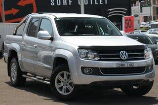 2015 Volkswagen Amarok 2H MY15 TDI400 4Mot Highline Silver 6 Speed Manual Utility.