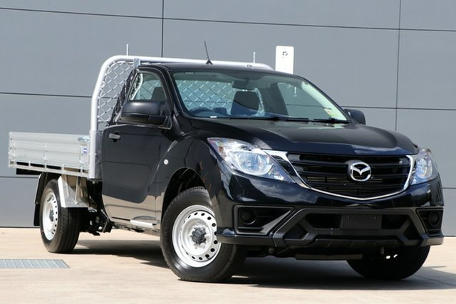 Demo Mazda BT-50 UR0YE1 XT 4x2, 2019 Mazda BT-50 UR0YE1 XT 4x2 Jet Black 6 Speed Manual Cab Chassis