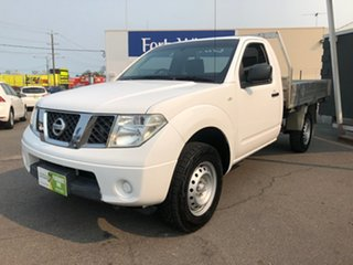 2012 Nissan Navara D40 MY12 RX (4x4) White 6 Speed Manual Cab Chassis