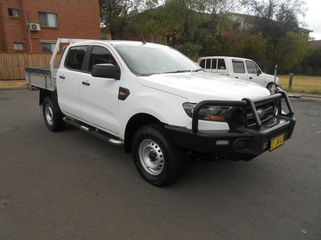 Used Ford Ranger PX MkII XL 2.2 Hi-Rider (4x2), 2015 Ford Ranger PX MkII XL 2.2 Hi-Rider (4x2) White 6 Speed Automatic Crew Cab Chassis