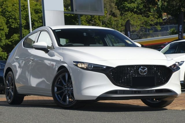New Mazda 3 BP2H7A G20 SKYACTIV-Drive Touring, 2019 Mazda 3 BP2H7A G20 SKYACTIV-Drive Touring Snowflake White 6 Speed Sports Automatic Hatchback