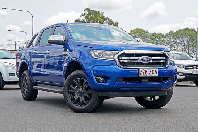 Used Ford Ranger PX MkIII 2019.75MY XLT Pick-up Double Cab, 2019 Ford Ranger PX MkIII 2019.75MY XLT Pick-up Double Cab Blue Lightning 6 Speed Sports Automatic