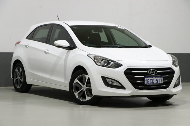 Used Hyundai i30 GD4 Series 2 Update Active X, 2016 Hyundai i30 GD4 Series 2 Update Active X White 6 Speed Automatic Hatchback