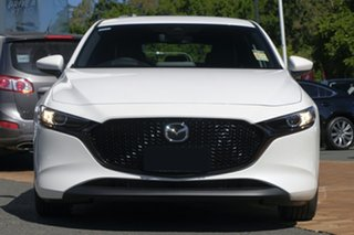 2021 Mazda 3 BP2H7A G20 SKYACTIV-Drive Touring Snowflake White Pearl 6 Speed Sports Automatic