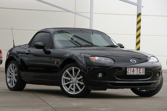 Used Mazda MX-5 NC30F1 MY07 Roadster Coupe, 2007 Mazda MX-5 NC30F1 MY07 Roadster Coupe Black 6 Speed Manual Hardtop