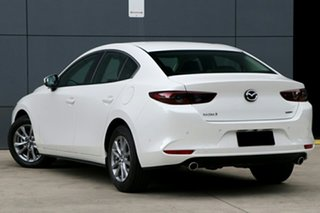 2019 Mazda 3 BP2S7A G20 SKYACTIV-Drive Pure Snowflake White Pearl 6 Speed Sports Automatic Sedan.