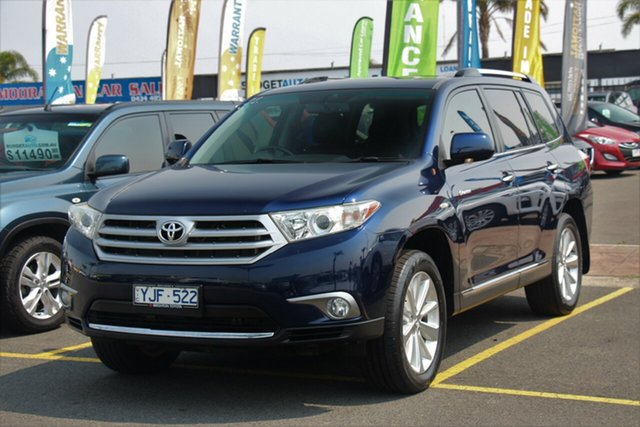 Used Toyota Kluger GSU45R MY11 Grande AWD, 2011 Toyota Kluger GSU45R MY11 Grande AWD Blue 5 Speed Sports Automatic Wagon