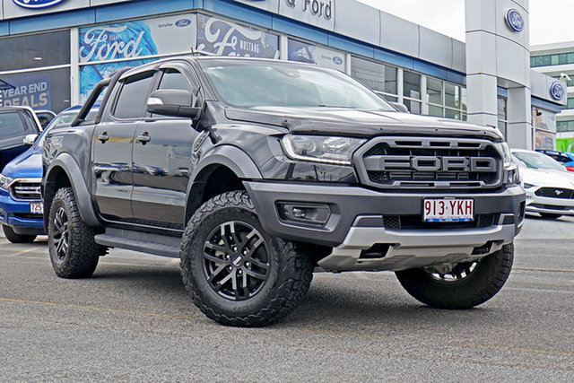Used Ford Ranger PX MkIII 2019.00MY Raptor Pick-up Double Cab, 2018 Ford Ranger PX MkIII 2019.00MY Raptor Pick-up Double Cab Black 10 Speed Sports Automatic