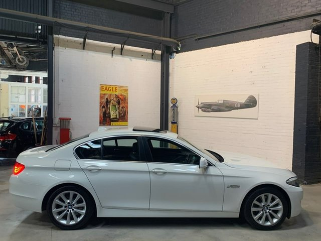 Used BMW 5 Series F10 520d Steptronic, 2010 BMW 5 Series F10 520d Steptronic White 8 Speed Sports Automatic Sedan