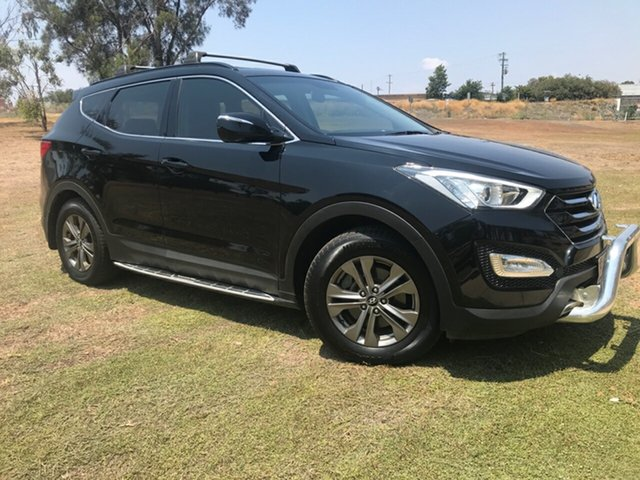 Used Hyundai Santa Fe DM Active (4x4), 2013 Hyundai Santa Fe DM Active (4x4) Black 6 Speed Automatic Wagon