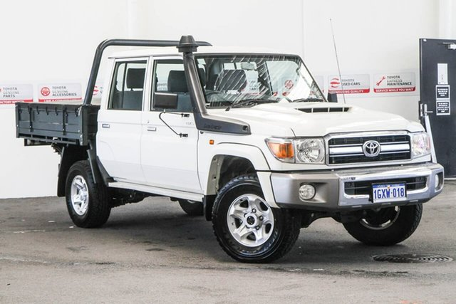 Used Toyota Landcruiser VDJ79R GXL Double Cab, 2019 Toyota Landcruiser VDJ79R GXL Double Cab French Vanilla 5 Speed Manual Cab Chassis