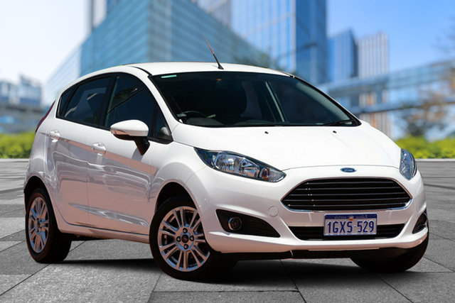 Used Ford Fiesta WZ Trend PwrShift, 2013 Ford Fiesta WZ Trend PwrShift White 6 Speed Sports Automatic Dual Clutch Hatchback