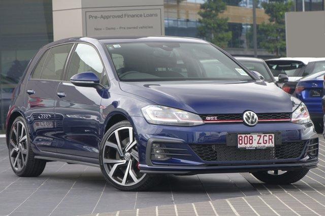 Demo Volkswagen Golf 7.5 MY19.5 GTI DSG, 2019 Volkswagen Golf 7.5 MY19.5 GTI DSG Atlantic Blue 7 Speed Sports Automatic Dual Clutch Hatchback
