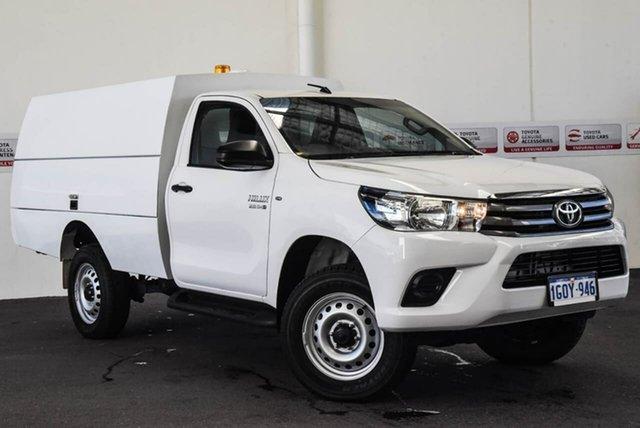 Used Toyota Hilux GUN126R MY17 SR (4x4), 2018 Toyota Hilux GUN126R MY17 SR (4x4) Glacier White 6 Speed Automatic Cab Chassis