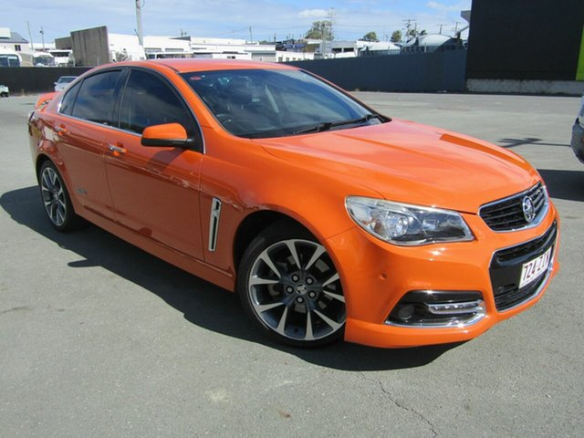 Used Holden Commodore VF SS-V, 2013 Holden Commodore VF SS-V Orange 6 Speed Manual Sedan