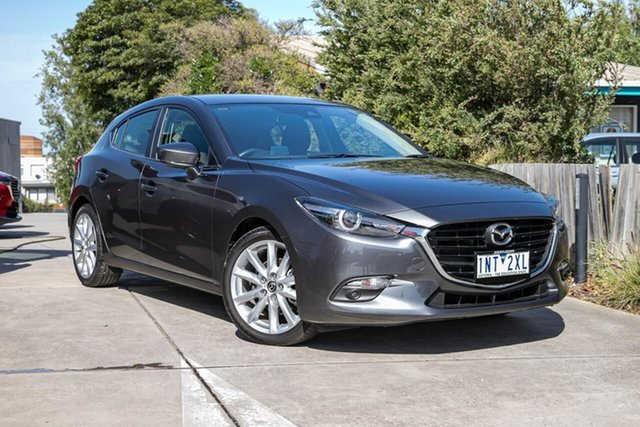 Used Mazda 3 BN5438 SP25 SKYACTIV-Drive GT, 2018 Mazda 3 BN5438 SP25 SKYACTIV-Drive GT Grey 6 Speed Sports Automatic Hatchback