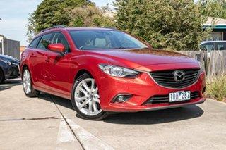 2014 Mazda 6 GJ1031 MY14 Atenza SKYACTIV-Drive Red 6 Speed Sports Automatic Wagon.