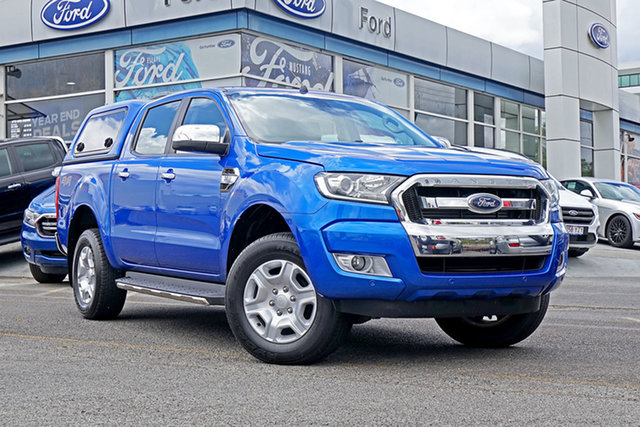 Used Ford Ranger PX MkII XLT Double Cab, 2017 Ford Ranger PX MkII XLT Double Cab Blue 6 Speed Sports Automatic Utility