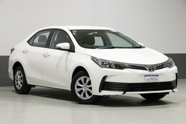 Used Toyota Corolla ZRE172R MY17 Ascent, 2018 Toyota Corolla ZRE172R MY17 Ascent White 7 Speed CVT Auto Sequential Sedan